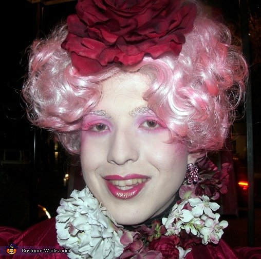 face shot makeup and hair, Effie Trinket Costume