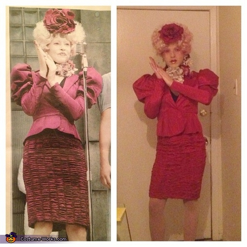 split screen, Effie Trinket Costume