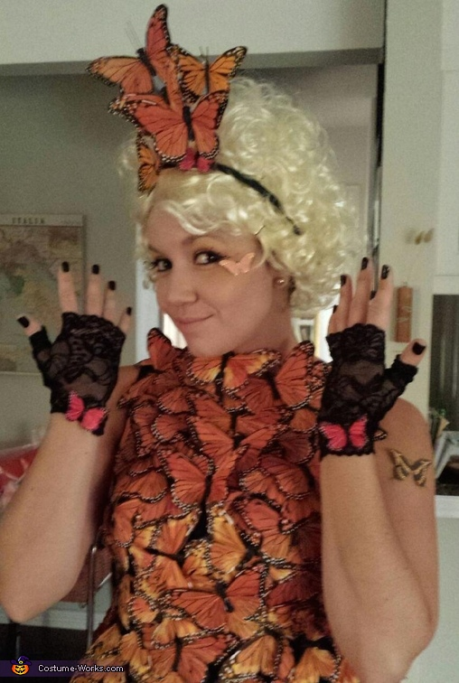 Effie Trinket's Butterfly Homemade Costume