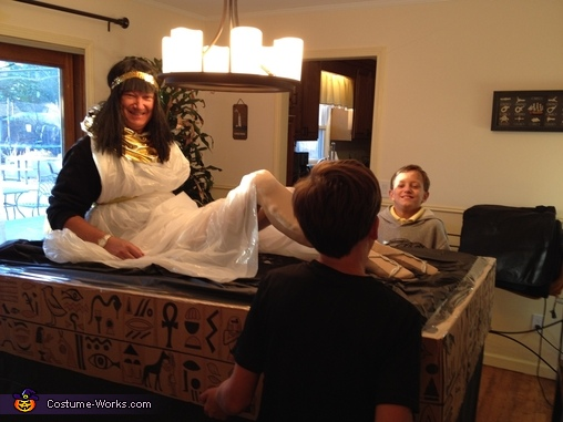 Fitting Dad into the role, Ancient Egyptians Group Costume