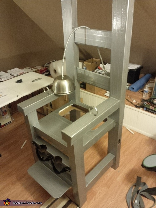 after duct tape added, Electric Chair Optical Illusion Costume