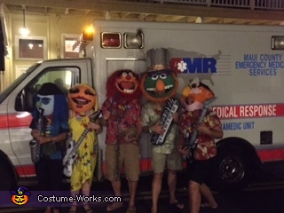 Taken on the street on Halloween, we did not need use of the Ambulance, Electric Mayhem Band Costume