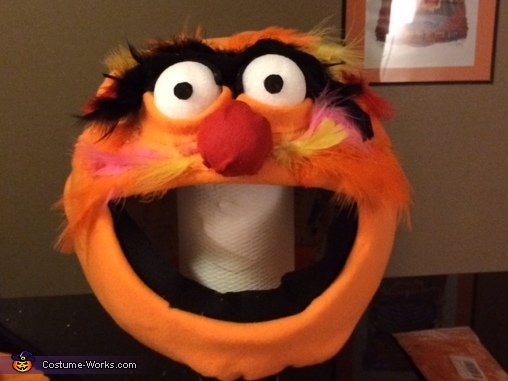 In progress photo of Animal, Electric Mayhem Band Costume