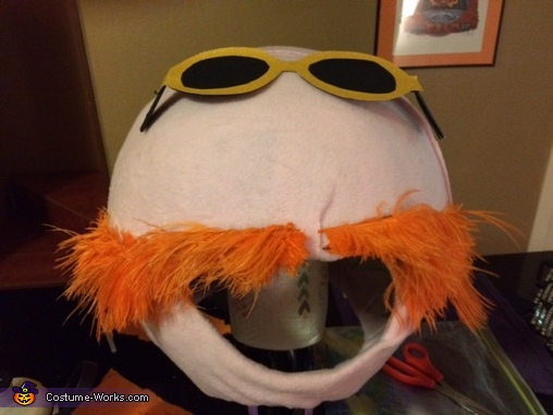 In progress photo of Floyd Peppers, Electric Mayhem Band Costume