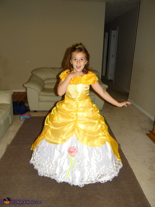 Finished Dress 2, Electrical Light Parade inspired Belle Costume