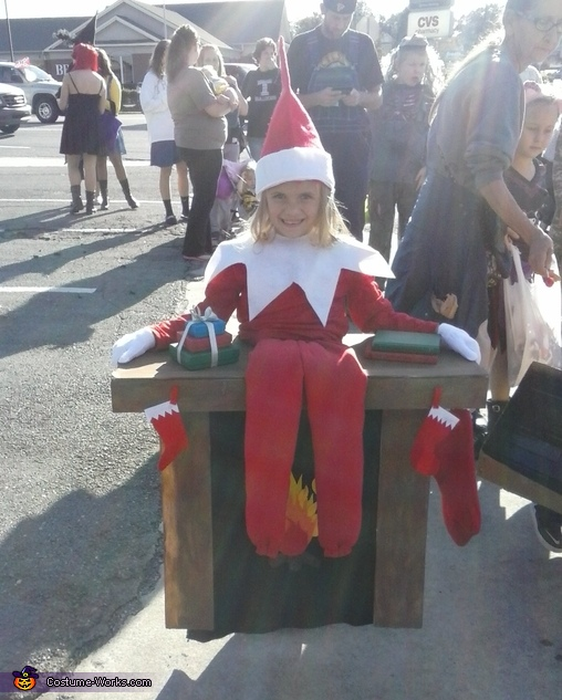 Elf on the Shelf Homemade Costume