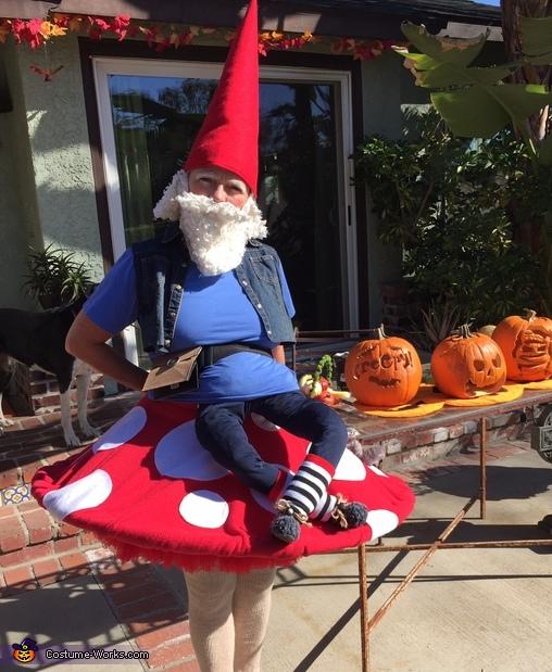 Elias the Gnome Rests on a Mushroom Homemade Costume