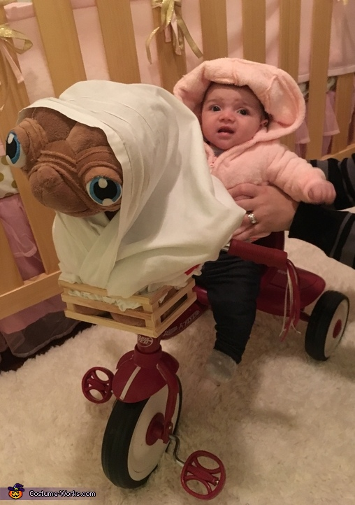 Elliot with E.T. Homemade Costume