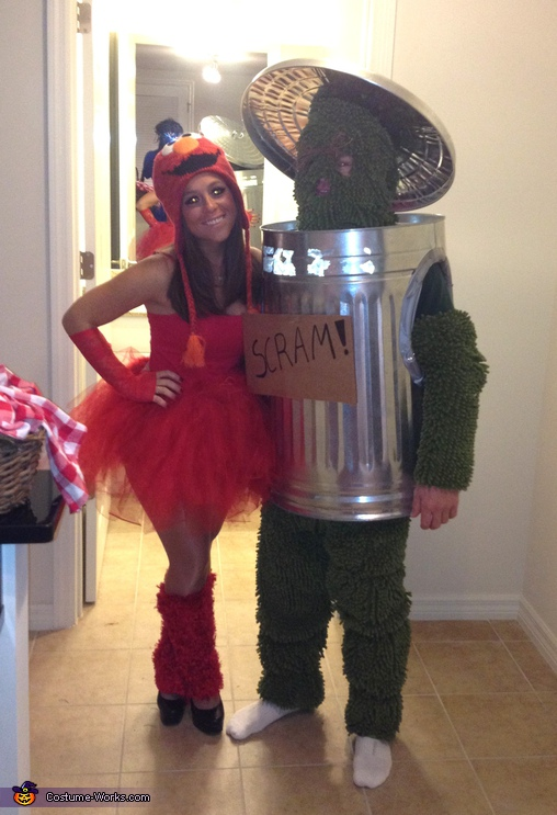 Elmo and Oscar - Homemade costumes for couples