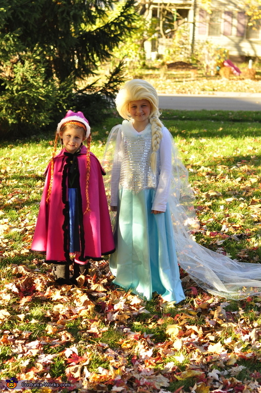 sisters, Elsa and Anna Costume