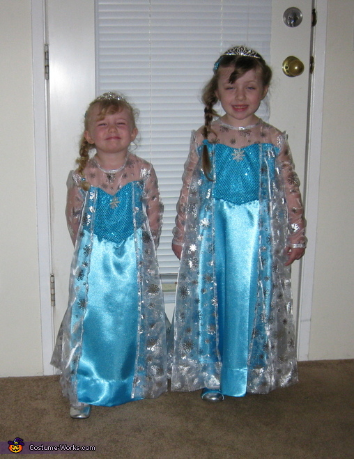 The Elsa sisters from Frozen Costume
