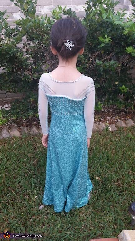 Back Details, Elsa the Snow Queen Costume