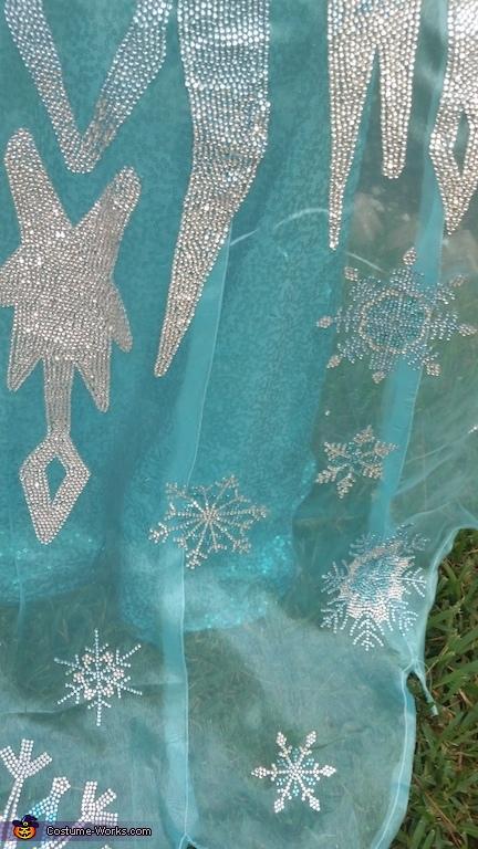 Cape Details, Elsa the Snow Queen Costume