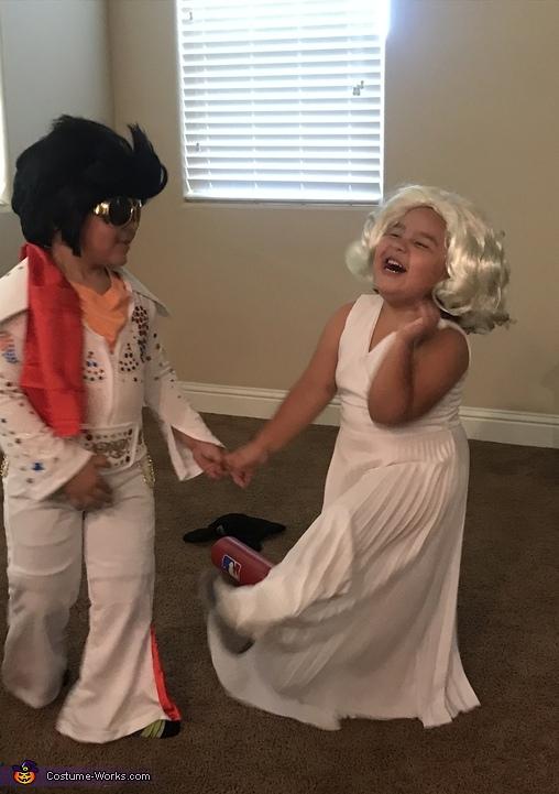 Enjoying the attention, Elvis & Marilyn Costume