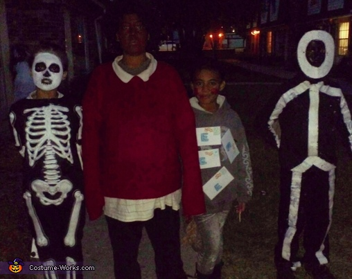 Skeleton, fat albert, email & stick person, Email & Attachment Costume