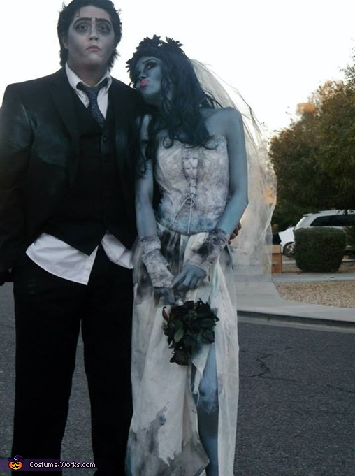 Emily and Victor from Corpse Bride Homemade Costume