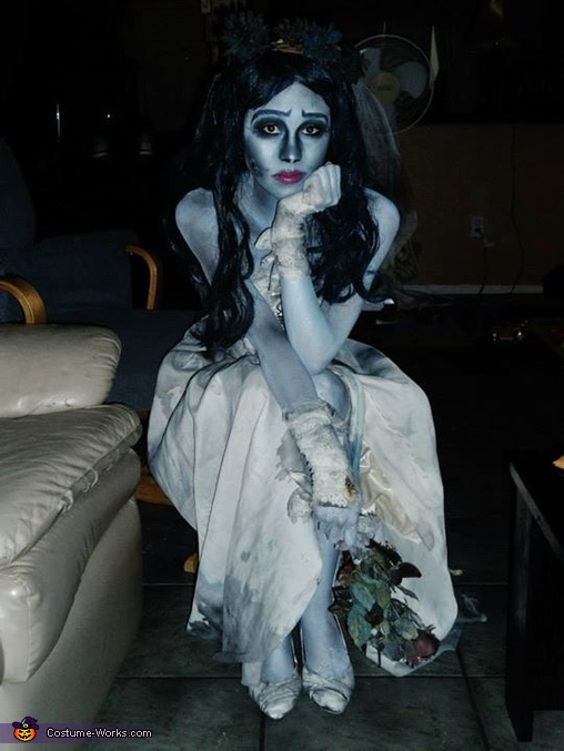 Dead Bride Halloween Costume.Emily From Corpse Bride Halloween Costume