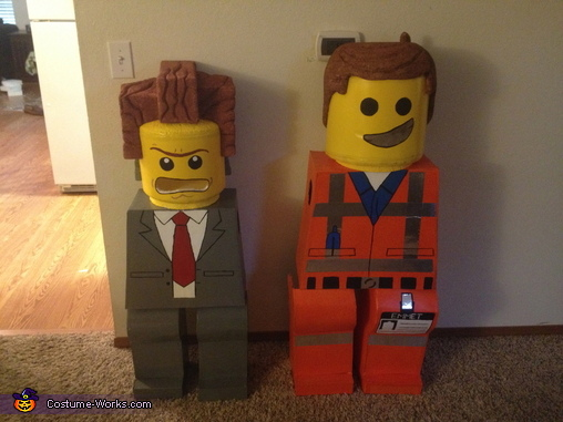 Finished Costumes, Emmet and President Business Costume