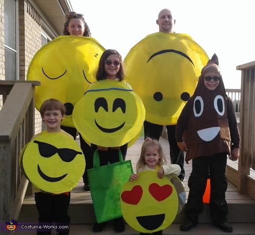 emoji family costume