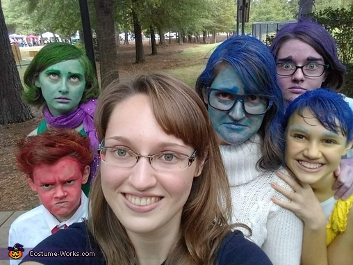 Riley and her friends, Emotional Beings Costume