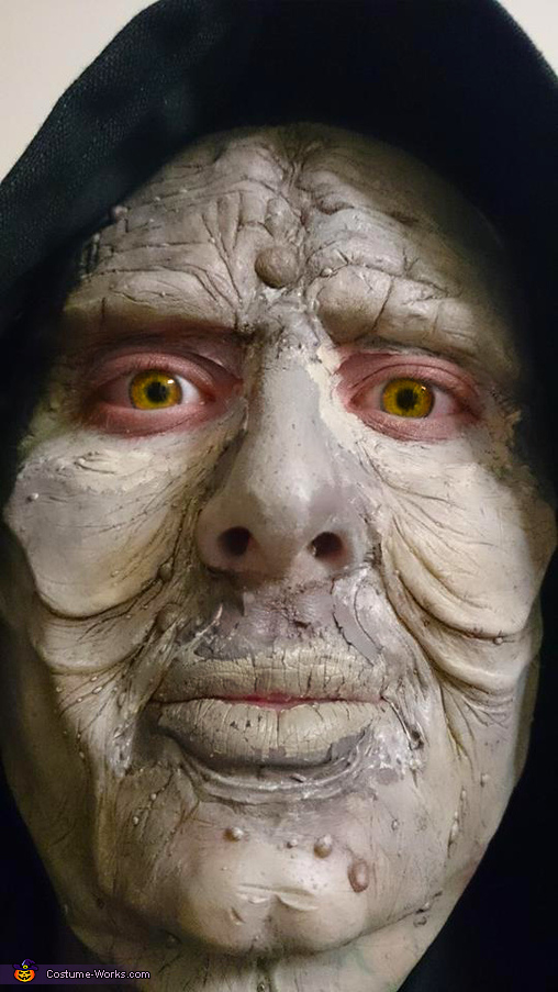 face detail, Emperor Palpatine Costume