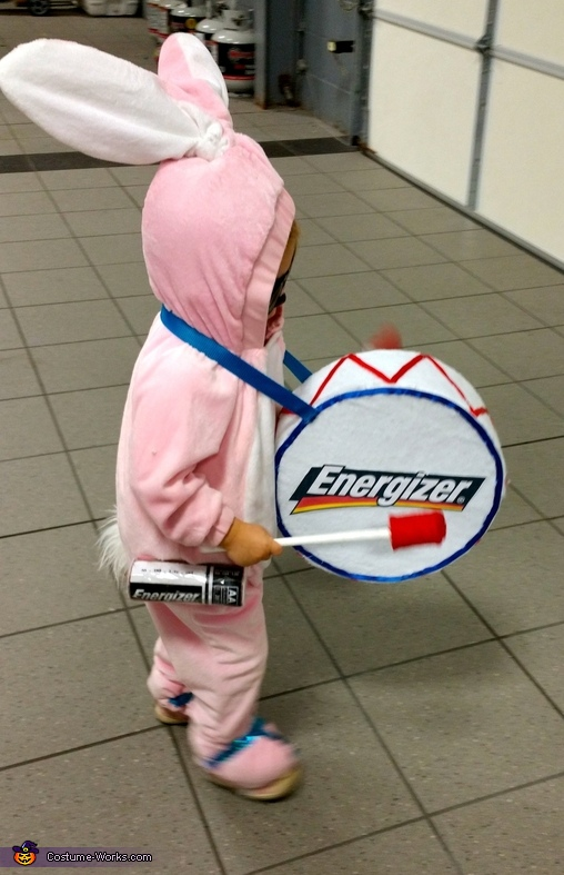 Side View, Energizer Bunny Costume