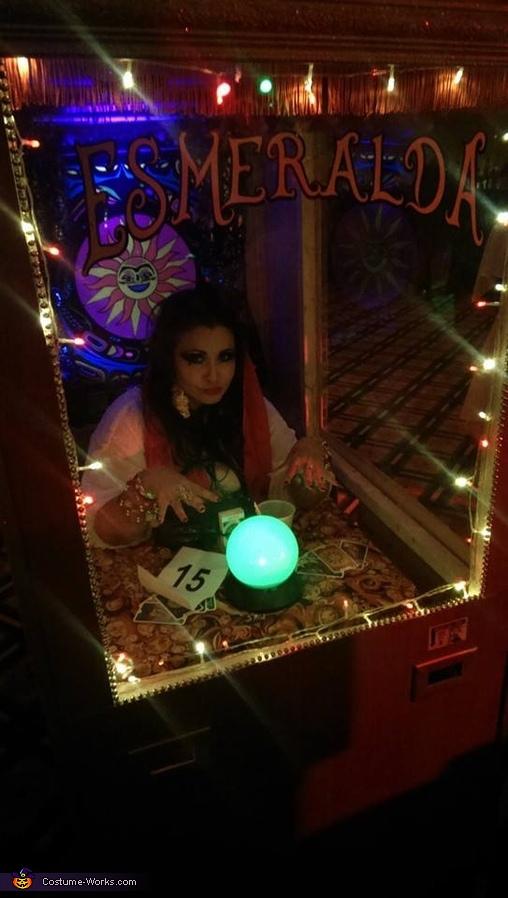 All lit up!, Esmeralda Fortune Teller Costume