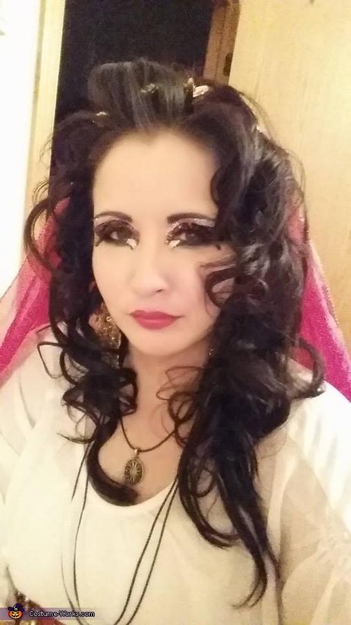 Makeup, Esmeralda Fortune Teller Costume