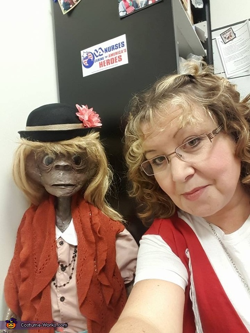 Close up of Gertie and ET, ET and Gertie Costume