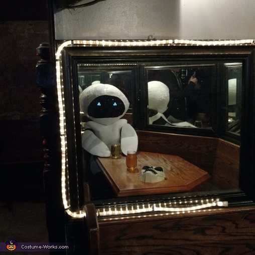 Eve finds herself in a metal bar. She is home., Eve from Wall-E Costume