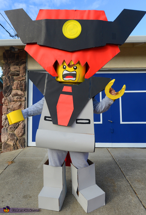 Closer view of my gigantic Lord Business costume., Everything is Awesome LEGO Family Costume