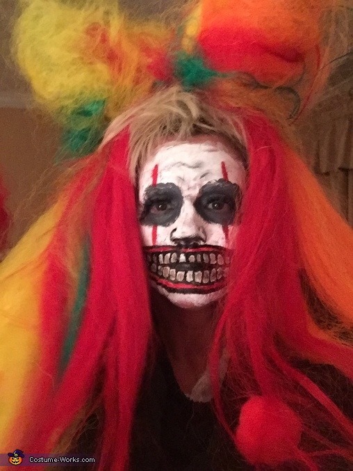 Wig and makeup phase two, Evil Clown Costume