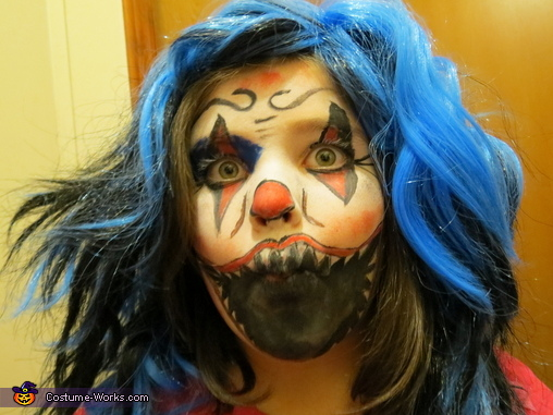 Evil Clown Child Costume