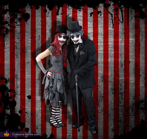 Evil Clown Couple, Evil Clowns Costume