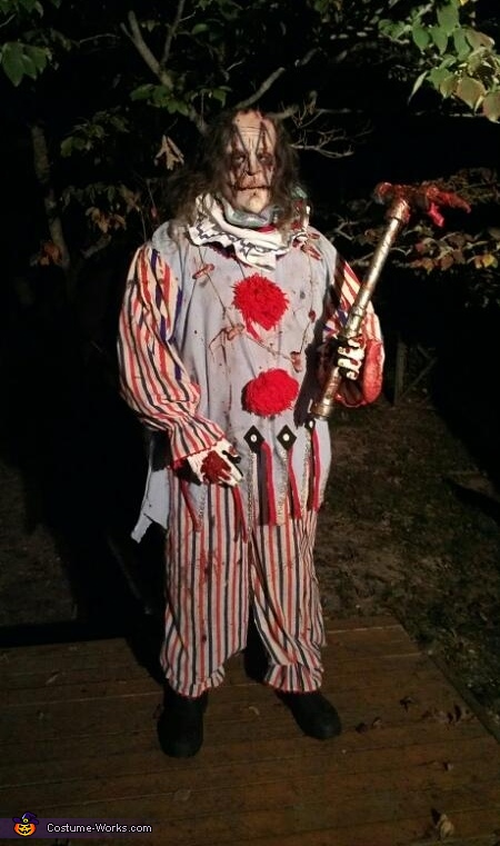 Evil Killer Clown Costume