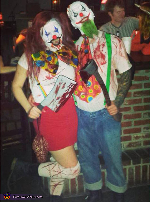 Evil Killer Clowns Couple's Costume