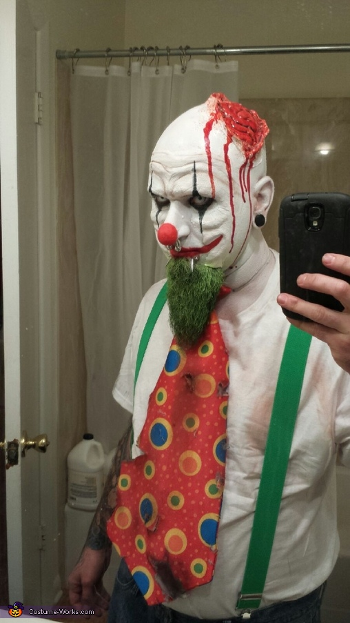 Evil Killer Clowns Homemade Costume & Evil Killer Clowns Coupleu0027s Halloween Costume - Photo 2/5