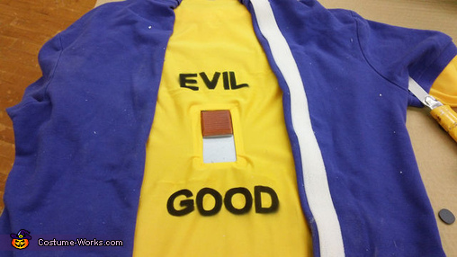 Evil Krusty vs. Simpson Couch Homemade Costume