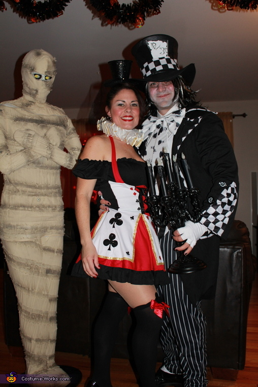 The Evil Wonderland, Evil Mad Hatter & Queen of Hearts Costume