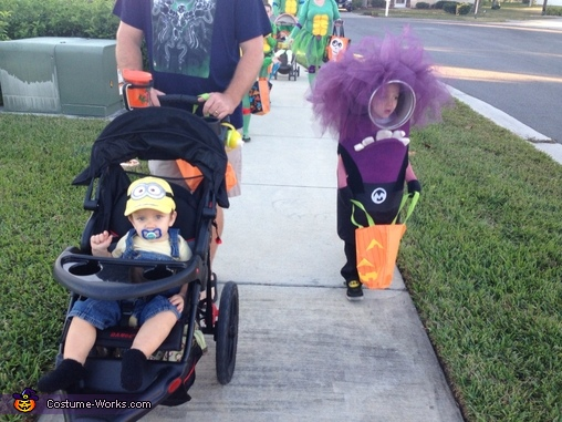 Evil Minion and Yellow Minion Homemade Costume