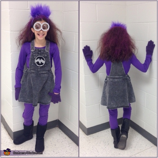 Evil Minion Girl Homemade Costume