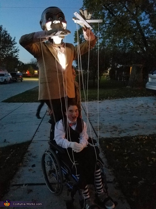 Evil Puppet with Marionette Homemade Costume