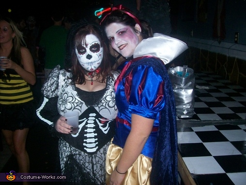 Celebrating with my Sugar Skull sister, Evil Snow White Costume