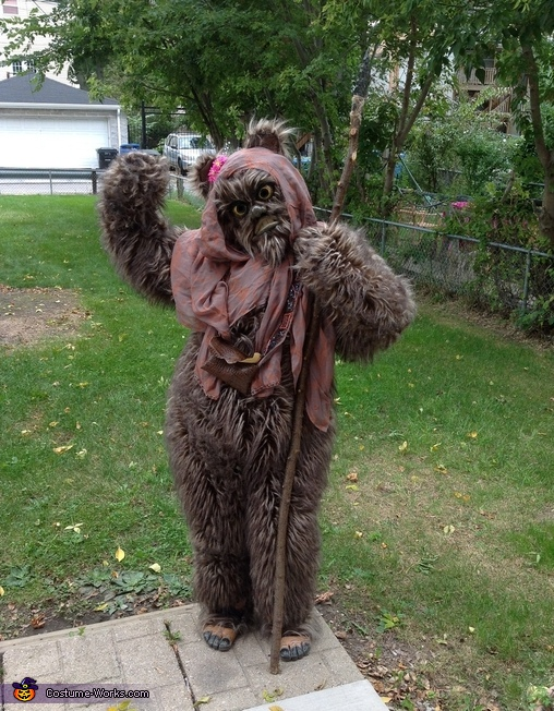 diy ewok costume. Black Bedroom Furniture Sets. Home Design Ideas