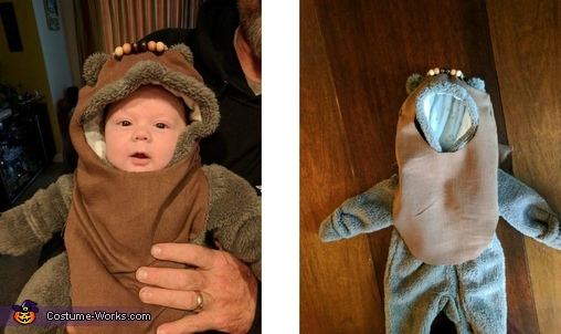 Homemade Ewok Costume  sc 1 st  Costume Works & Homemade Ewok Baby Costume - Photo 2/3