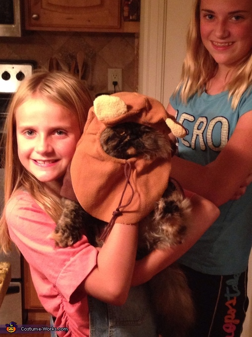 I've been taken against my will! Send reinforcements , Ewok from Endor Cat Costume