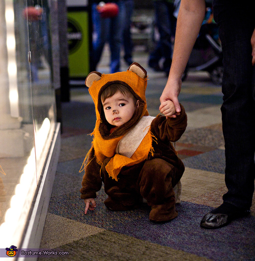 Ewok Toddler - Homemade costumes for kids