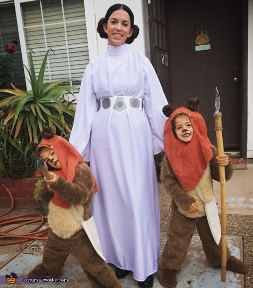 Ewoks and Princess Leia Costume