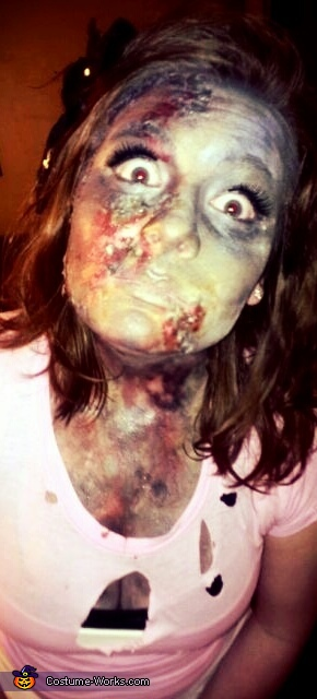 Car crash burn victim, Exorcist Costume