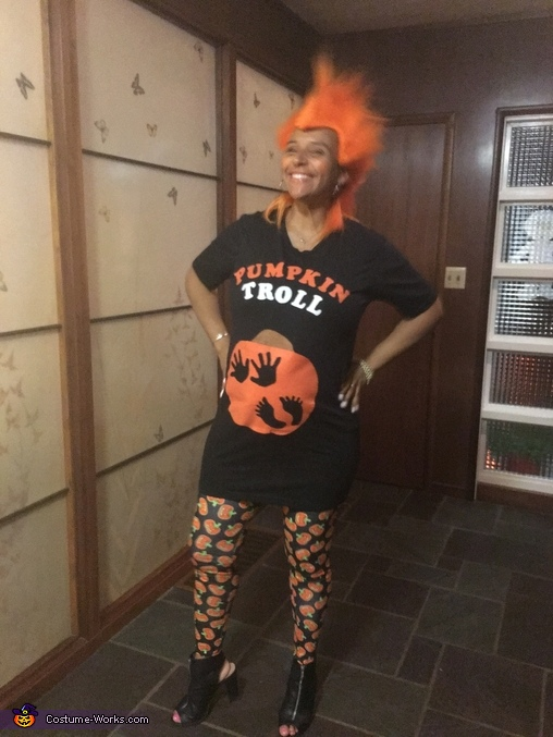 Live Life Bright, Expecting Pumpkin Troll Costume
